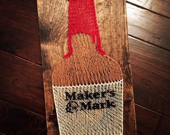 Maker's Mark Bourbon Whiskey String Art
