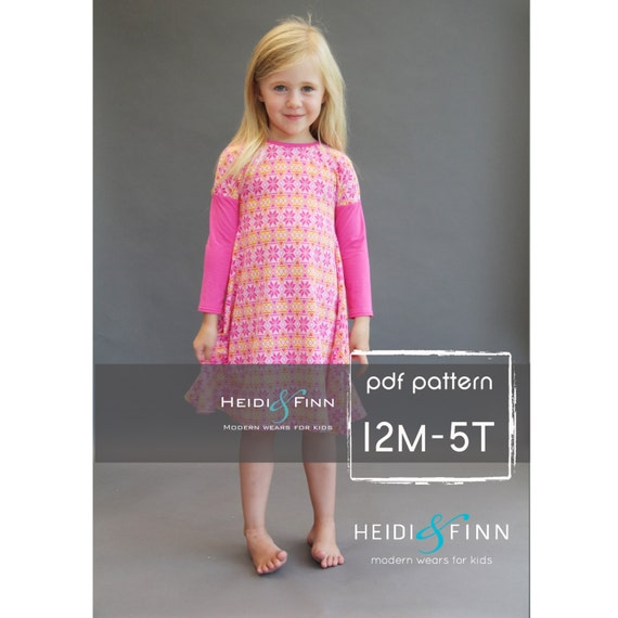 Kopic tunic dress PDF sewing pattern and tutorial 12m-5t