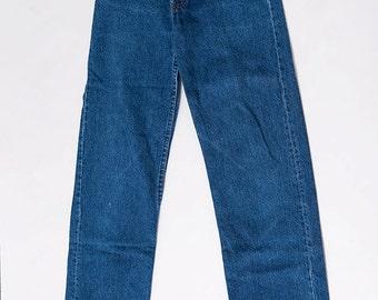 The Vintage Dark Wash Indigo Levi Strauss Jeans - WAIST 25