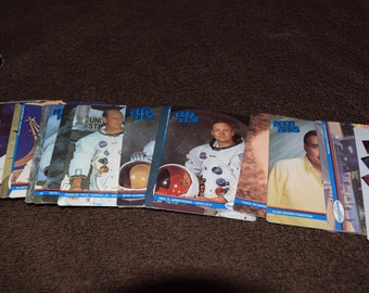 Moon Mars Space Shots 36-Card Special Edition 1991, Laser 3-D Sculpturing Face on Mars, Two Sets