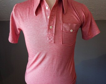 Vintage Short Sleeve Red Polo Shirt by Kings Road