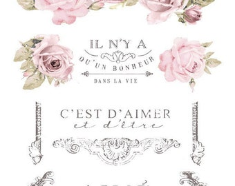 "Dans La Vie French Inspired Decor Transfer from Prima Marketing . 27"" x 36"""