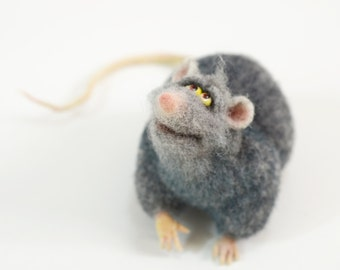 Christmas gift - Felt toys - Felted animals - Felt doll - Collectible dolls -  Soft sculpture - Needle felting  - Gift for men - Christmas