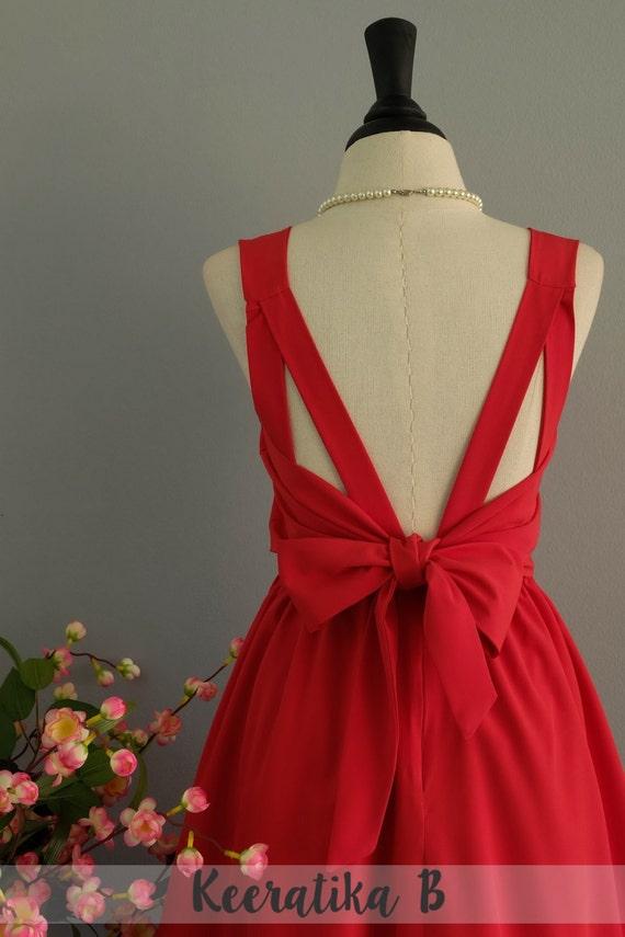 Rote Abschlussball Kleid Frauen Brautjungfer Kleid Partykleid