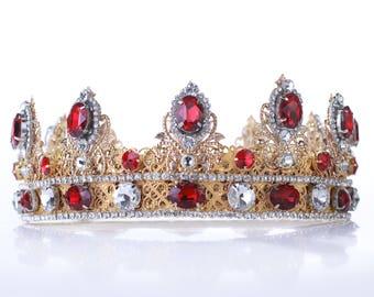 KING CROWN Mens crown, Custom crown, medieval crown, gold crown, renaissance crown, games of thrones, tudor, dolce crown, mens costume