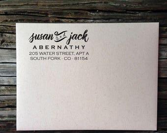 Custom Address, Return Address Label, Custom Return Address Labels, Modern Script Bold Return Address Labels, Wedding Invitation Labels