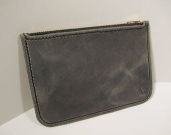 Accessory pouch / purse, Genuine oil tanned leather
