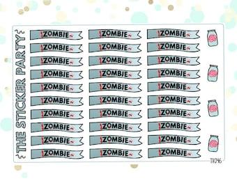 iZombie TV Show iZombie Planner Stickers