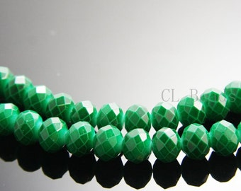 22pcs Donut Neon Crystal - Emerald 10x8mm (705)