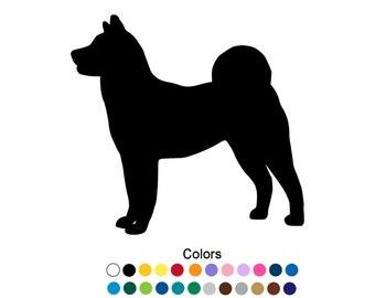 Akita Decal Car Window Sticker Akita Dog Art Silhouette Dog Portrait Personalize Laptop Tumbler Cup Akita Gift Dog Decor Wall Art D1001