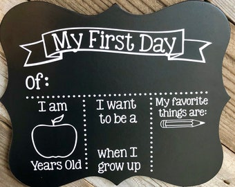 First day of school chalkboard, 1st day of school board, my first day of school chalkboard