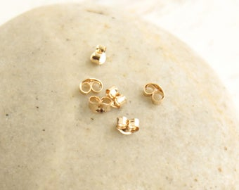 Gold Filled Earring Backings or Light Clutches -- 10 pcs