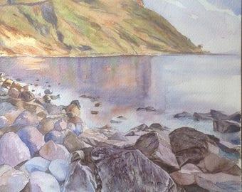 Creeks original original watercolor painting watercolor original aquarel Mediterranean acuarela wasserfarbe Provence France