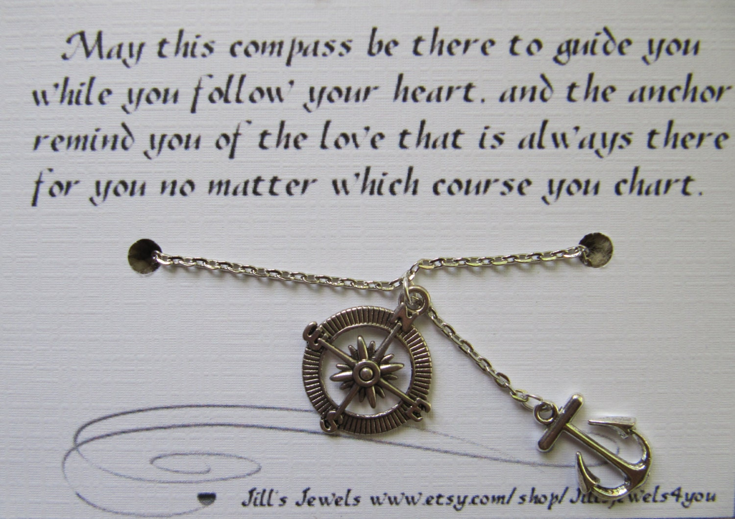 Quotes About Distance Friendship Best Friend Compass And Anchor Charm Necklace And Friendship