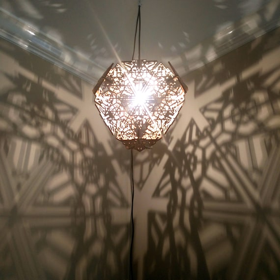 Truncated Tetrahedron - Hanging Ceiling Pendant Shadow Lamp