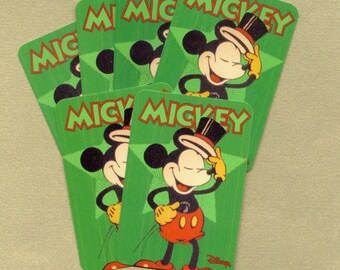 Small Mickey Mouse Playing Cards for Paper Arts, ATCs, Collage, Scrapbooking, Assemblage and MORE PSS 0931