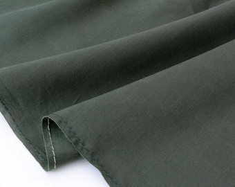 Silk fabric and cotton sateen extra silky flowing khaki x 50cm