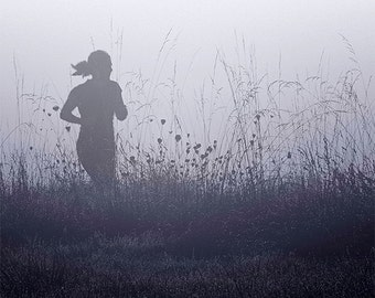 Foggy Run, Black & White Fine Art Image,