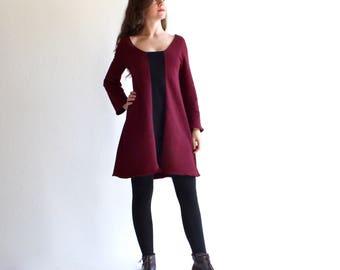 Sweatshirt dress, casual dress, mini dress, sweater dress, long sleeve dress, long sweatshirt, tunic dress, day dress, comfy dress, long top