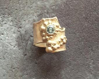 Sterling Silver & Topaz Ring