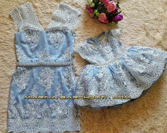 Family Look Mother and Daughter Matching Outfits, SET OF TWO dresses
