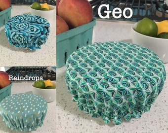 Reversible reusable small bowl cover-many prints available!