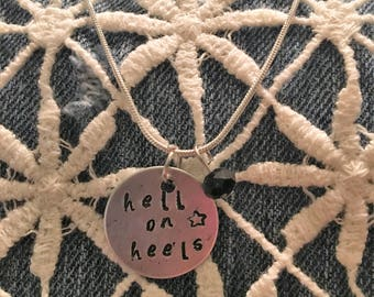 Hell on heels necklace