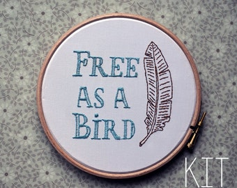 "Embroidery Kit ""Freebird"""