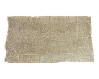 Antique handmade Bogolan strip-woven mud cloth from Mali, West Africa B193