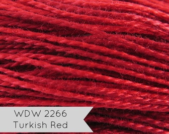 Red Pearl Cotton Thread   Weeks Dye Works Hand Over-Dyed Perle Cotton - Size 5 Turkish Red   Embroidery, Hand Applique, Needlwork, Quilting