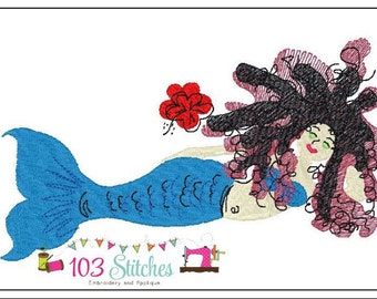 Mermaid-5x7-PES-Only-Embroidery Digital File