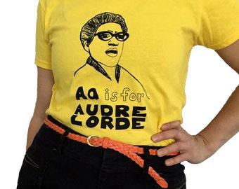 Feminist Shirt - AUDRE LORDE T-Shirt & Screenprint ADULT Sizes - Gift Set