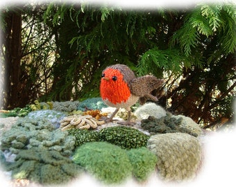 CHRISTMAS ROBIN  REDBREAST toy knitting pattern by Georgina Manvell