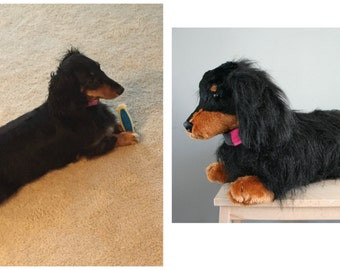 Custom dog plush. A plushie of your dog! Made to order from pictures