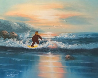 Surfin' Alf - ALFfirmation of a thrift store painting