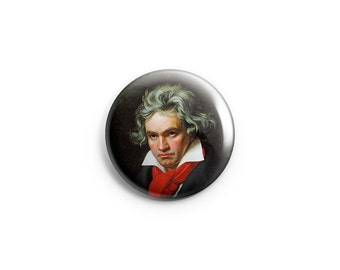 Beethoven badge, Beethoven Pin, Classical Music, Composer button, Beethoven fridge magnet