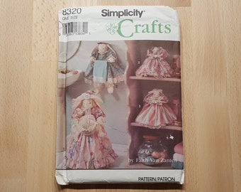 Simplicity Crafts 8320 Bathroom Bunnies by Faith Van Zanten for Toilet Roll, Towel Holder & Plunger presented by Donellensvintage