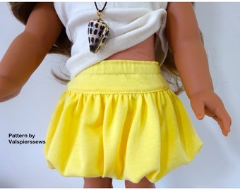 "1831, Bubble Skirt, Valspierssews Doll Clothes Pattern, Fits popular 18"" dolls and 20"" dolls, PDF Instant Download"