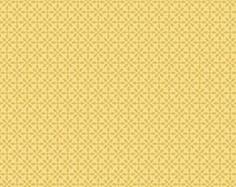 Jenean Morrison silent cinema front row yellow 0,5 m pure cotton fabric
