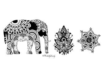 Indian Summer temporary tattoo set, boho tats,  festival tattoo, boho tattoos henna style tattoos, Skin Art, Body Art, Wickedly Lovely