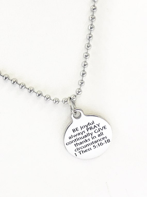 Christian Necklace, BE PRAY GIVE Necklace, Christian Gifts, Christian Jewelry, Graduation Gift, Scripture Necklace, Bible Verse Necklace