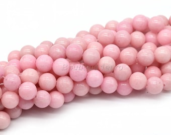 6mm (8), 8mm (6), 10mm (3)-beads Jade Mashan Pink salmon