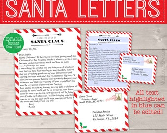 Personalized santa letter template letter from santa personalized letter from santa template printable santa letter template christmas letter template letters spiritdancerdesigns Images