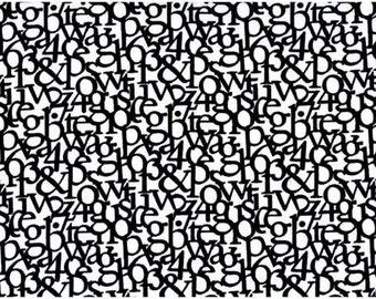 Mori Text Jumble in White/Black  from  Stof of Denmark