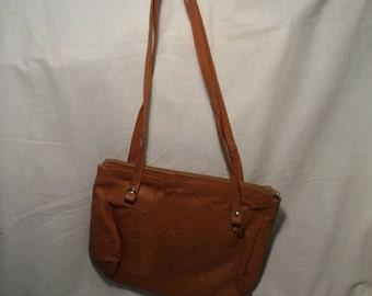 Vintage 1980''s Light Brown Handbag - Shoulder Bag - NEW