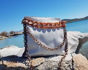 Leather Bag,Crochet Bag,Borsa,Handbags,Bubbles  Bags,Luxury Bag,Knitting,Black,Handmade Bag,Made in Greece
