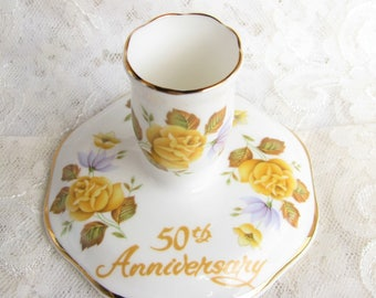 Vintage Candle holder Anniversary gift Bone china candle holder Ceramic candle holder