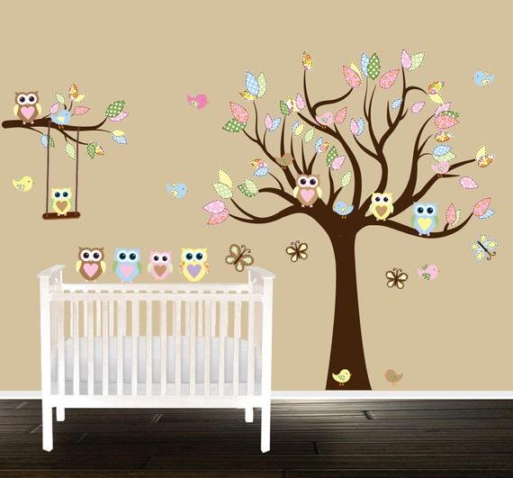 Eule Kindergarten Baum Wandtattoo Geschlecht Neutral