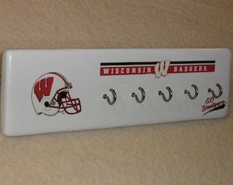Wisconsin Badger's key rack