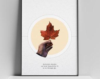 Red Leaf Poster